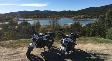 motos et lac
