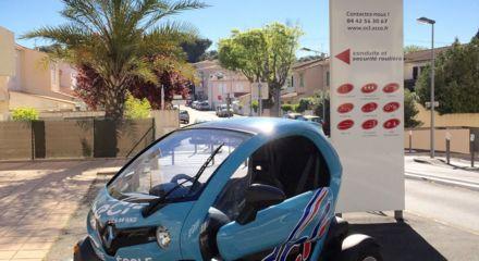 Profitez des beaux jours pour une formation AM (ancien BSR) option 2 ou 4 roues avec le Renault Twizy !