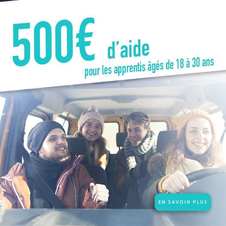 aide de 500 € pour les apprentis