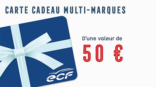 Carte cadeau multi-marques de 50€