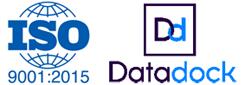logos ISO et Datadock