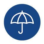 Pictogramme d'un parapluie