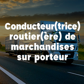 conducteur routier marchandises porteur ECF Blois