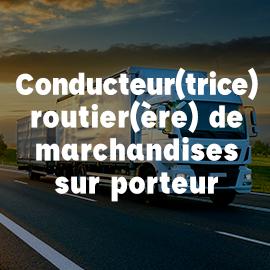conducteur routier marchandises porteur ECF