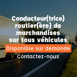Titre professionnel conducteur transport routier de marchandises sur tous véhicules