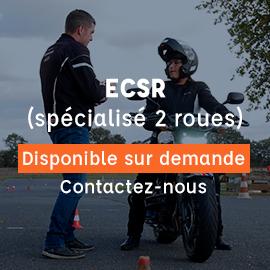 ECSR enseignant conduite sécurité routière spécialisé 2 roues