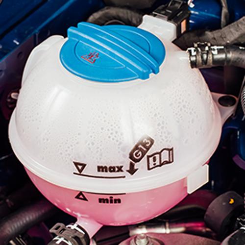 Vase à expansion dans le bloc moteur